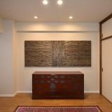 コレクションを眺められるギャラリーのような和室リフォーム